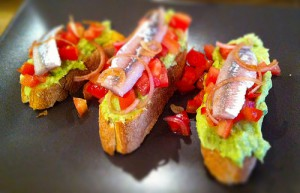 Bruschetta met Guacamole en Sprot