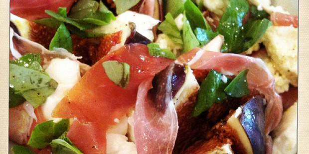 Salade met Vijgen, Mozzarella en San Daniele