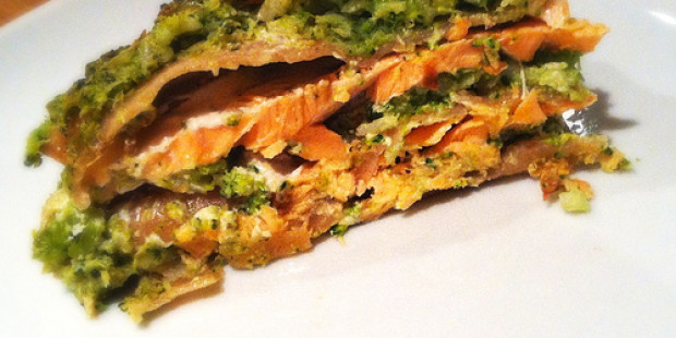 Spelt Lasagne met Zalm en Broccoli