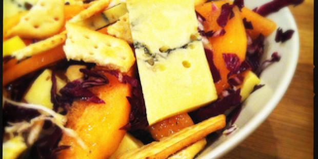 Salade met Morbier, Meloen en Radicchio