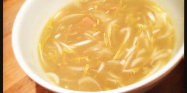 Witloof Soep met Gerookte Zalm en Curry