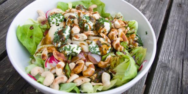 Salade met Radijsjes, Peer en Geitenkaas
