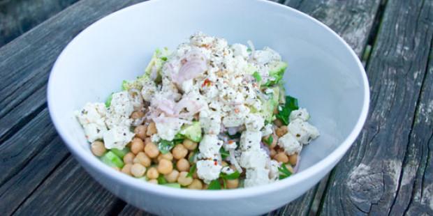 Salade met Kikkererwten en Feta
