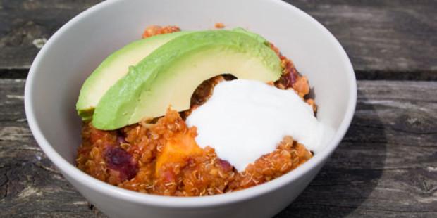 Chili van Zoete Aardappel en Quinoa