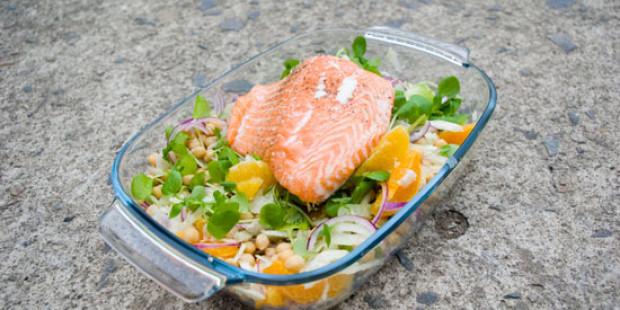 Zalm Salade met Venkel